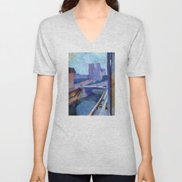 A Glimpse of Notre-Dame in the Late Afternoon - Henri Matisse Unisex V-Neck