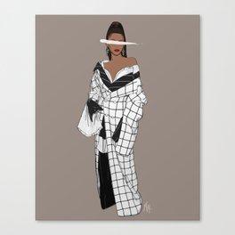 Zendaya Fashion Illustration || Illustration Print Canvas Print