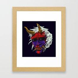 oni red demon Framed Art Print