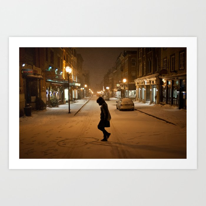 Québec Night Art Print