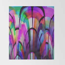 Color Gates Throw Blanket