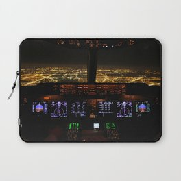 Cockpit view Chicago O'Hare Airport Laptop Sleeve