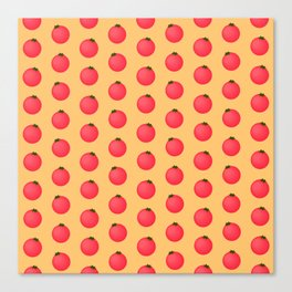 Tomatoes Over Yellow Canvas Print