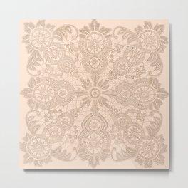 Pale Pink Lace Metal Print
