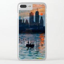 Boston Skyline 12 Clear iPhone Case