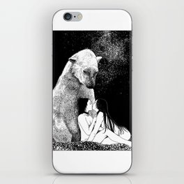 asc 257 - Le grand frère (The elder brother) - Night version iPhone Skin