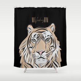 ME-fucking-OW - Sassy Tiger Shower Curtain