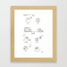 when life gives you lemon Framed Art Print