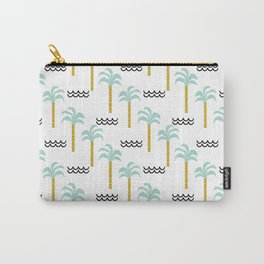 Palm Tree tropical island vacation wave water socal hawaii beach life salt life chilled out vibe Carry-All Pouch