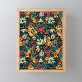Floral Pattern Winter Garden Framed Mini Art Print