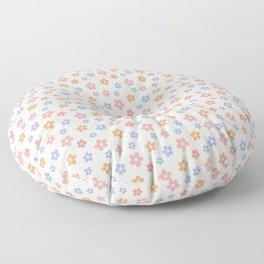 Colourful Floral Pattern Floor Pillow