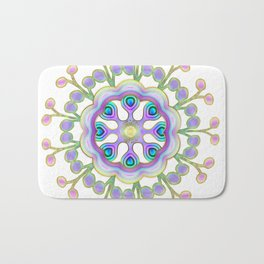 Moon Flower Mandala Bath Mat