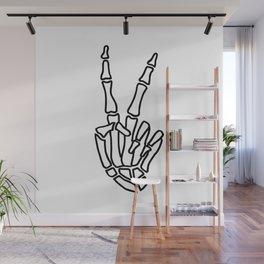 Peace skeleton hand Wall Mural