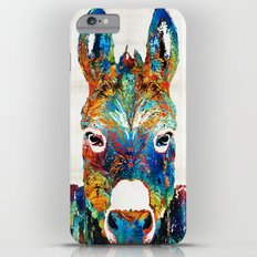Colorful Donkey Art - Mr. Personality - By Sharon Cummings Slim Case iPhone 6s Plus