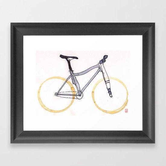 Coffee Wheels #04 Framed Art Print