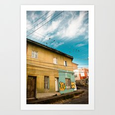 Doves and Wire#1 Art Print