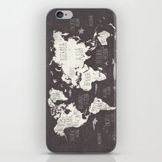 The World Map iPhone Skin