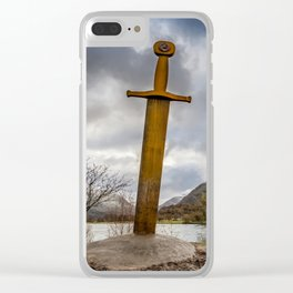 Sword of Llanberis Snowdonia Clear iPhone Case