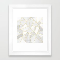 White Stone Framed Art Print