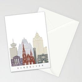Vancouver skyline poster Stationery Cards