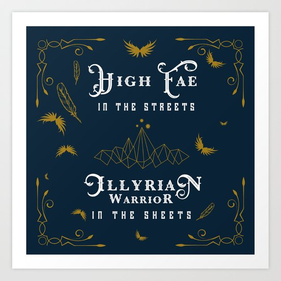 HIGH FAE IN THE STREETS Art Print