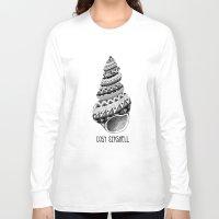seashell Long Sleeve T-shirts featuring Cosy Seashell by jez bird