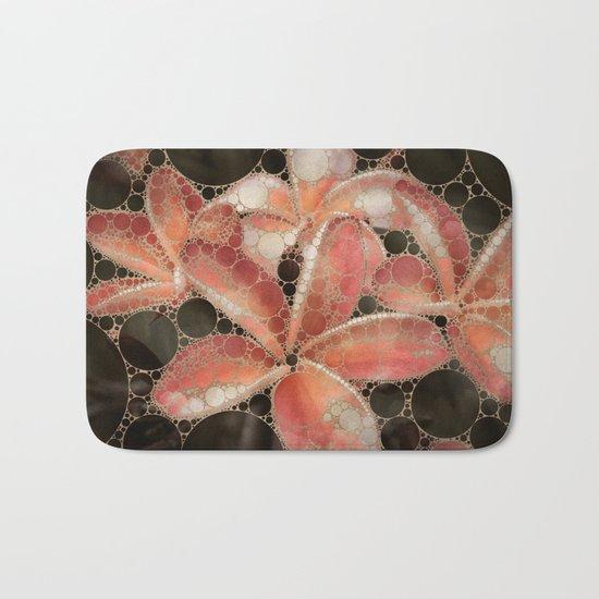 Percolated Tropical Flowers Bath Mat