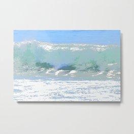 Pastel Wave Metal Print