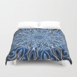 Blue and black Center Swirl Duvet Cover