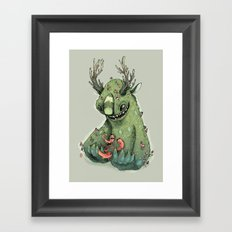 mushroom creature Framed Art Print