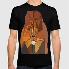 Dark Crystal Lion Black SMALL Mens Fitted Tee