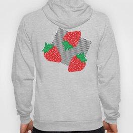 Cream Strawberries Pattern Hoody