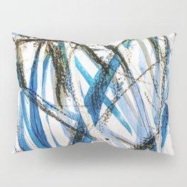 leaves in blue Pillow Sham