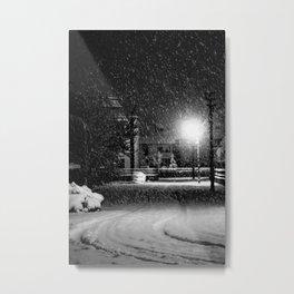 Snowy-road Metal Print
