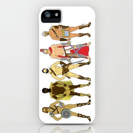 5 Gladiators and Warriors iPhone Case