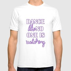 Dance Like No One is Watching - Purple White MEDIUM Mens Fitted Tee