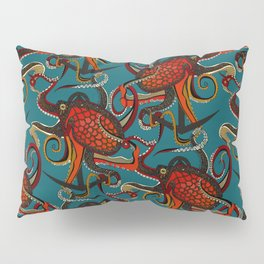 octopus ink teal Pillow Sham
