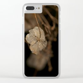 Withered leaf Clear iPhone Case