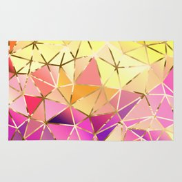 Rainbow Geometric pattern #5 Rug
