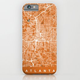 ATLANTA Map Georgia   Orange   More Colors, Review My Collections iPhone Case