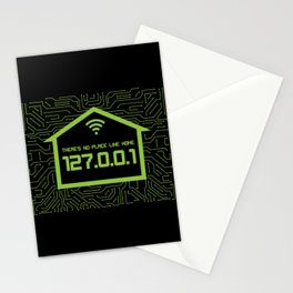 There's No Place Like Home 127.0.0.1 Stationery Cards