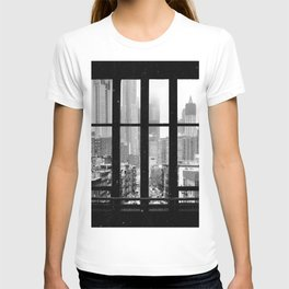 New York City Window Black and White T-shirt