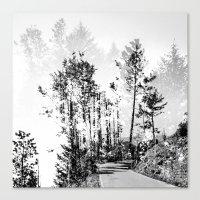 woodland Canvas Prints featuring Woodland by Schwebewesen • Romina Lutz