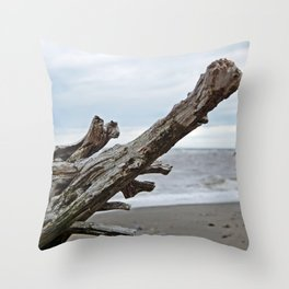 Natural Driftwood Throw Pillow