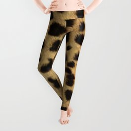 Faux Cheetah Skin Design Leggings