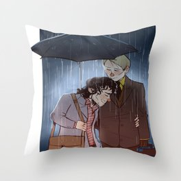 "NBC Hannibal - Will and Hannibal - ""Spring Rain"" Throw Pillow"