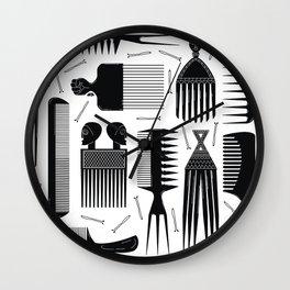Comb Through Wall Clock