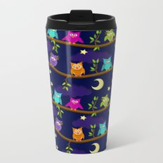 owls in the night Metal Travel Mug