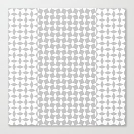 Patchwork Tile in Grey and White Canvas Print