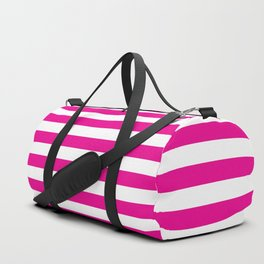 Horizontal Pink Stripes Duffle Bag